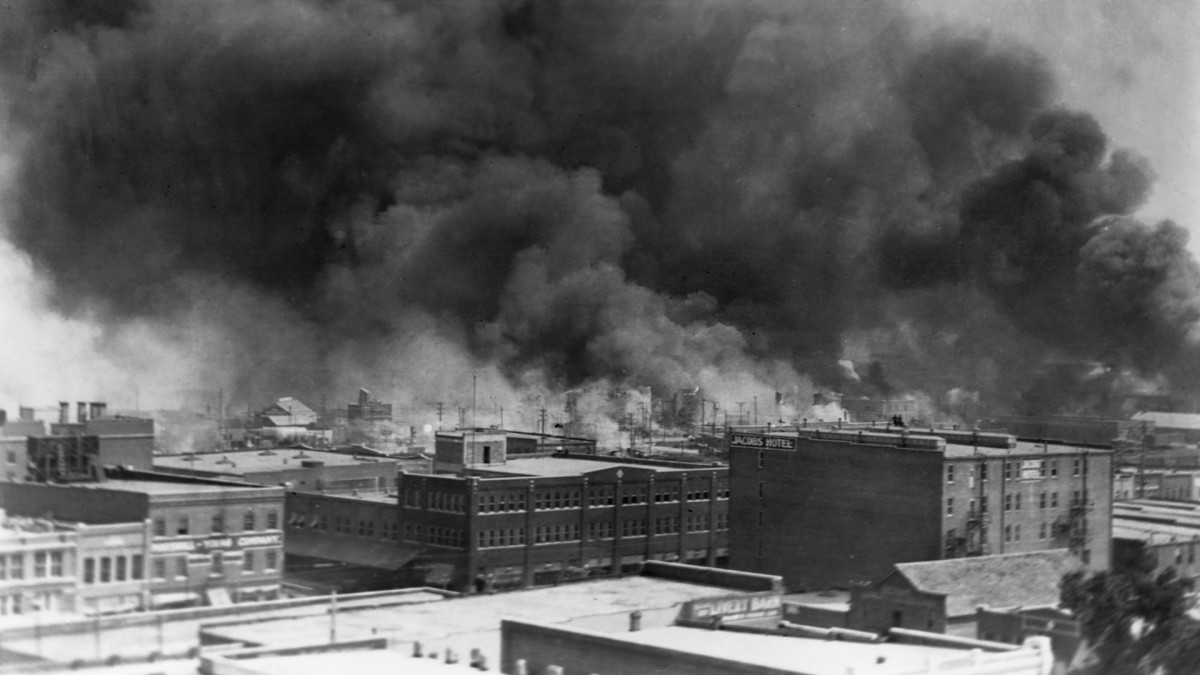 Photograph of 1921 Tulsa Massacre