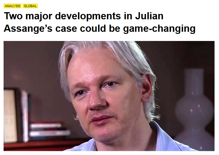 Canary: Two major developments in Julian Assange's case could be game-changing
