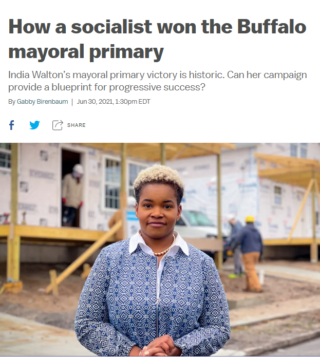 Vox: How a socialist won the Buffalo mayoral primary