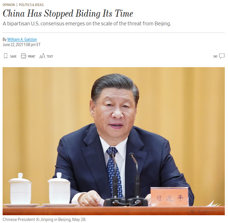 WSJ: China Has Stopped Biding Its Time