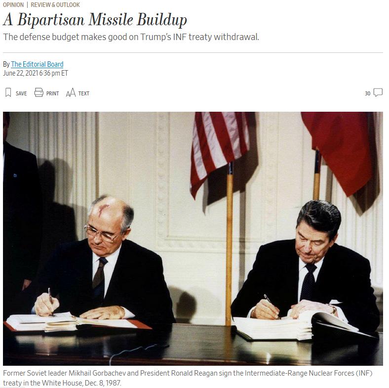 WSJ: A Bipartisan Missile Buildup