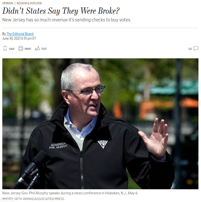 WSJ: Didn't States Say They Were Broke?