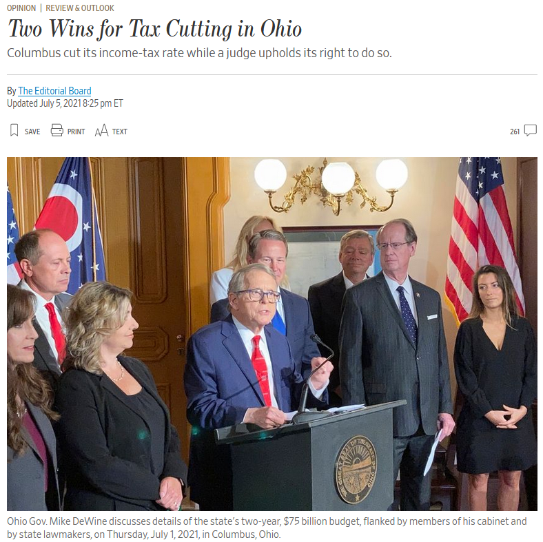 WSJ: Two Wins for Tax Cutting in Ohio