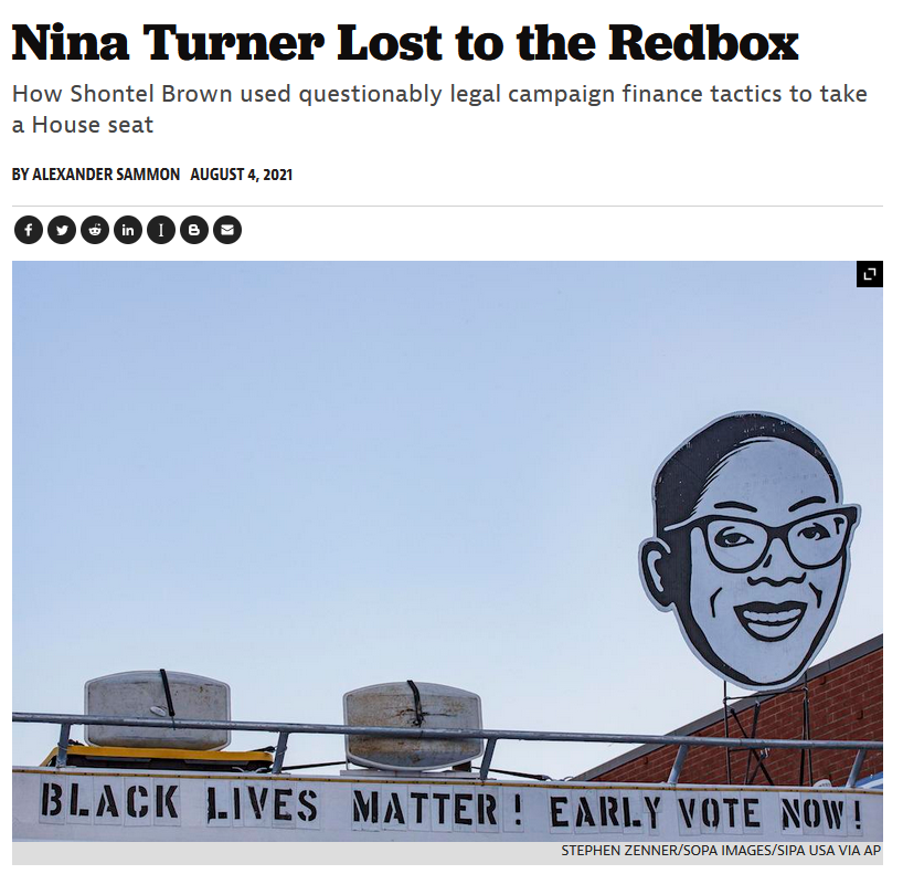 American Prospect: Nina Turner Lost to the Redbox