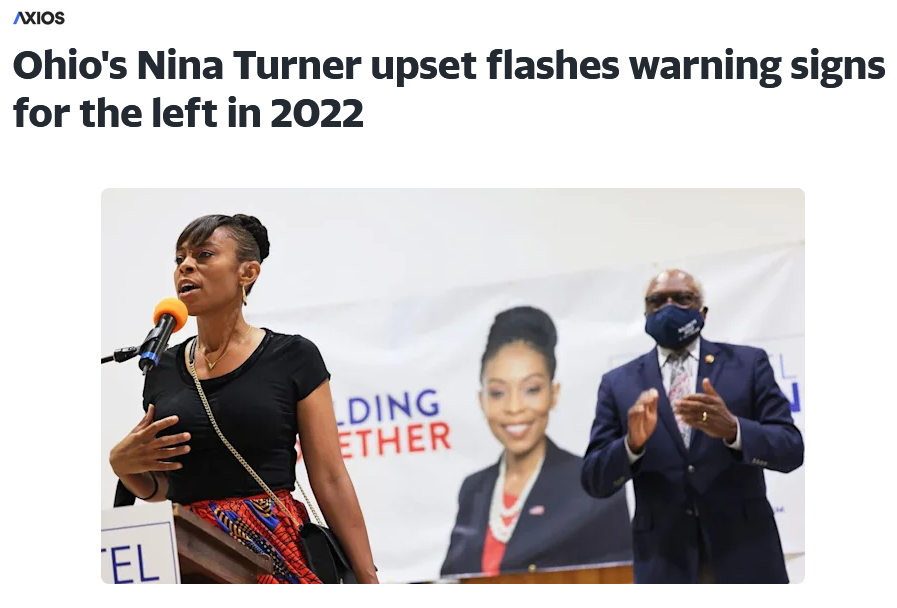 Axios: Ohio's Nina Turner upset flashes warning signs for the left in 2022