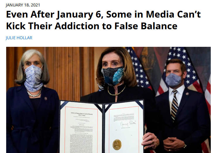 FAIR.org: Even After January 6, Some in Media Can't Kick Their Addiction to False Balance