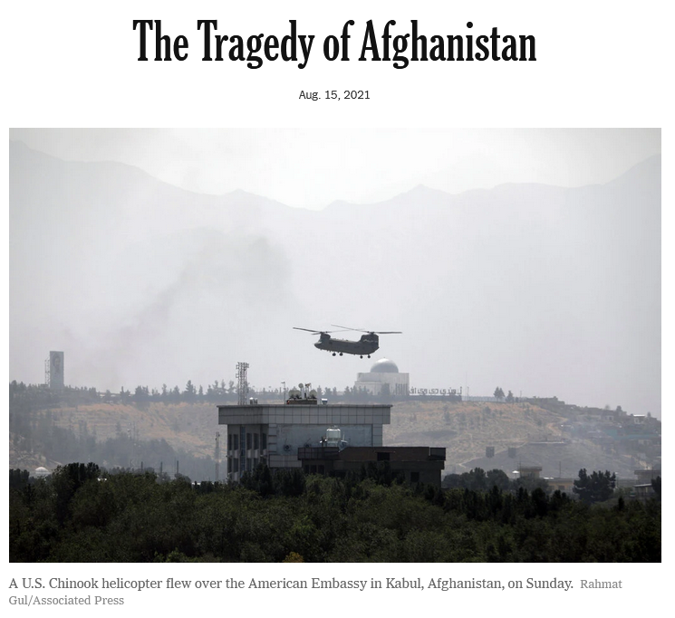 NYT: The Tragedy of Afghanistan