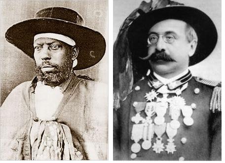 Emperor Menelik II; General Oreste Baratieri