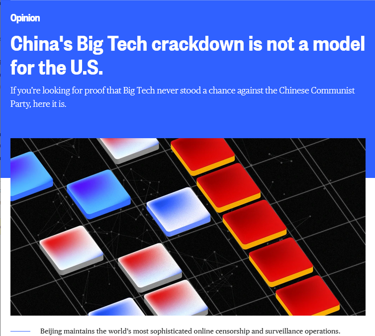 MSNBC: China's Big Tech crackdown is not a model for the U.S.
