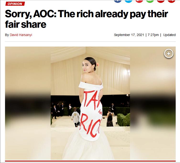 NY Post: Sorry, AOC: The rich already pay their fair share
