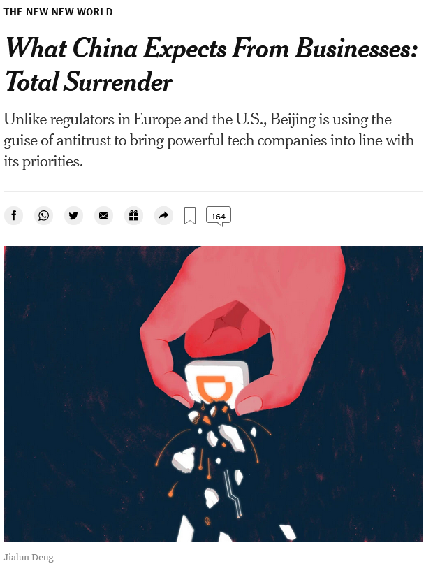 NYT: What China Expects From Businesses: Total Surrender