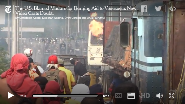 New York Times analysis of Venezuelan truck fire
