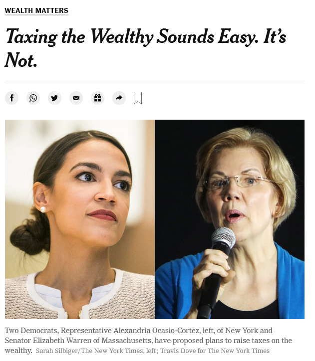 NYT: Taxing the Wealthy Sounds Easy. It's Not.