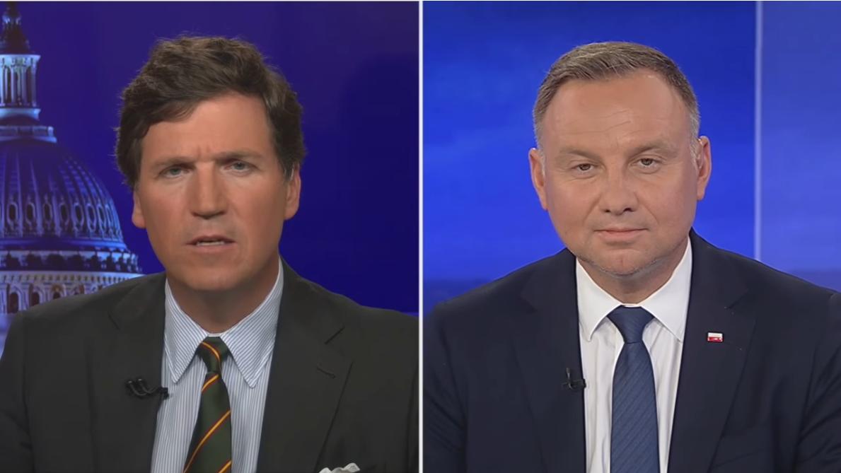 Tucker Carlson interviews Andrzej Duda