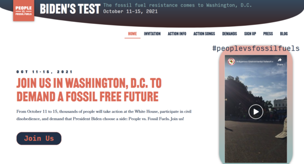 People vs. Fossil Fuels: Join Us in Washington, D.C. To Demand a Fossil Free Future